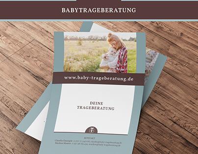 Babytrageberatung Editorial Design