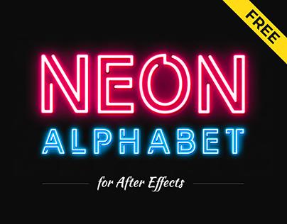 Free Neon Alphabet