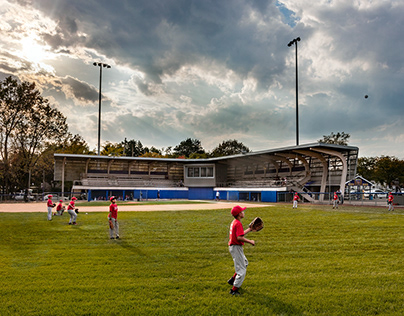 Little League Baseball Stadium-Gray Organschi