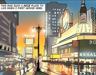 Establishing Shot - 1950s Times Square