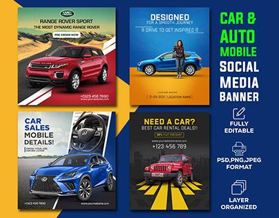 Car and Automobile I Social Media Banner Design
