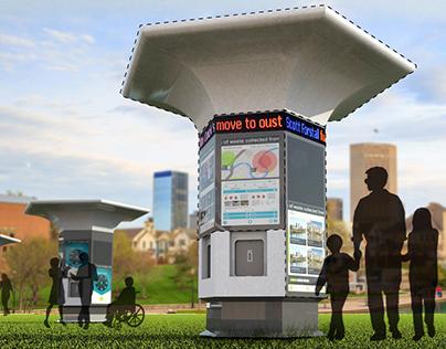 Interactive water kiosk