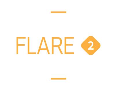 Flare 2. Typeface, b:a:d identity- custom font