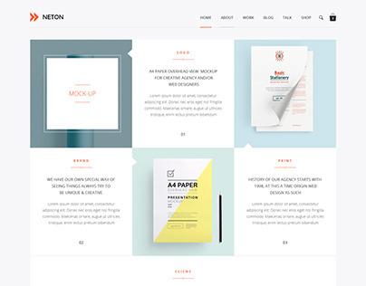Neton – Minimal Agency WP Theme