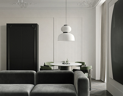 Modern apartment with elements of classicism
