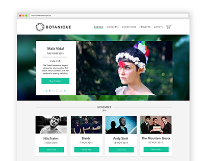 Botanique rebranding and website redesign
