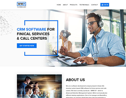 CRM Software Company Website Design