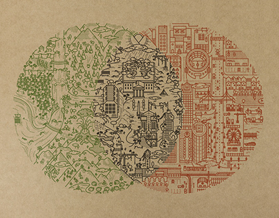 Converse 'Wildnerness Venn Diagram' print