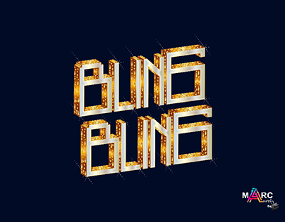 Typography bling bling illustration