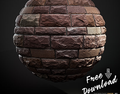 FREE: Scanned Seamless 1x2m Limestone Wall PBR Textures