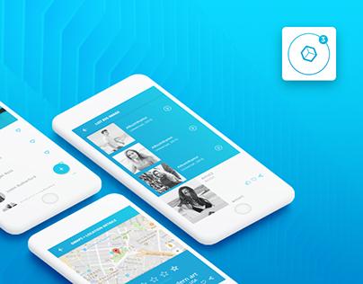 Ionic 3 UI Theme App - Material Design - Blue Light