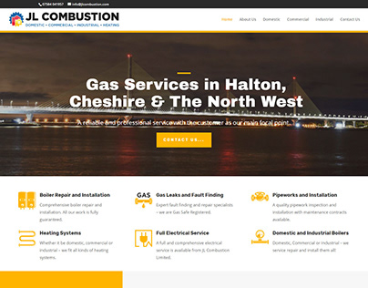 Construction company website using Divi theme