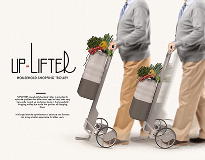 'UP-LIFTER' Household Shopping Trolley