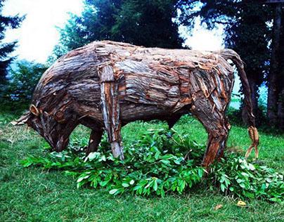 Bull / Boğa ( 2012 ) Ahşap Heykel