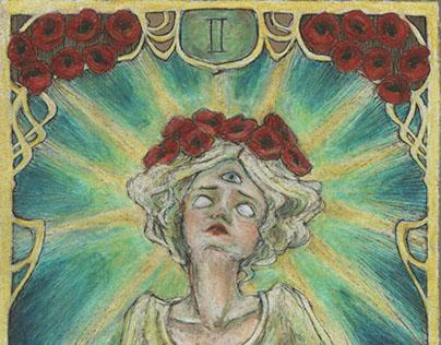 Tarot Cards: Ephemeral Art Nouveau