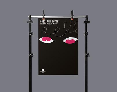 Cosi fan tutte / poster for Kraków Opera