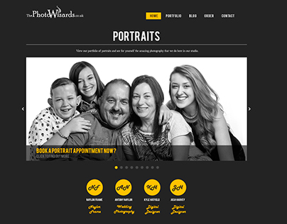 Website concept for 'ThePhotoWizards'