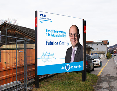 Graphisme de la campagne politique de Fabrice Cottier à