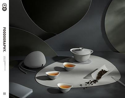 电商摄影 | 熊与杨虎口盖碗茶具套Chinese tea ✖ foodography