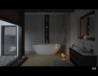 Bathroom athmosphere - interior design