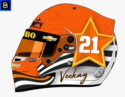 Rinus VeeKay Indy 500 helmet