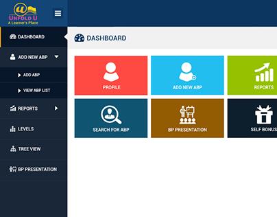 UX Dashboard Design for Dashboard  inner Screen