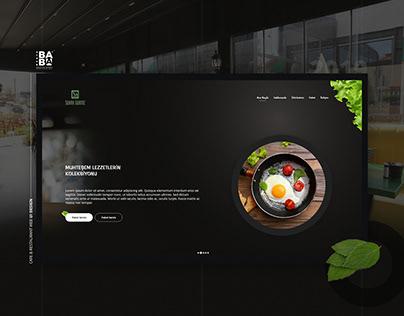 Cafe & Restaurant Web UI Darker Theme
