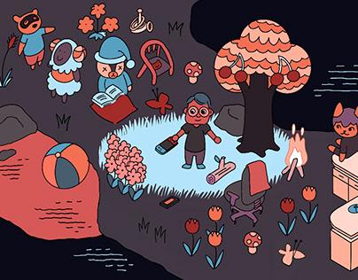 Illustrations for Batenka.ru