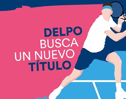 """Campaña digital """"Delpo en el US Open"""""""