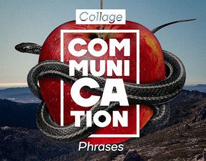 Collage Communication Phrases