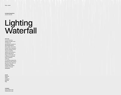 Lighting Waterfall