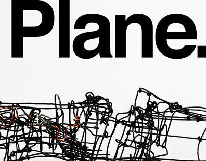Wire plane sculpture