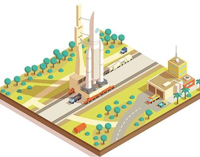 Urban planning isometry 2