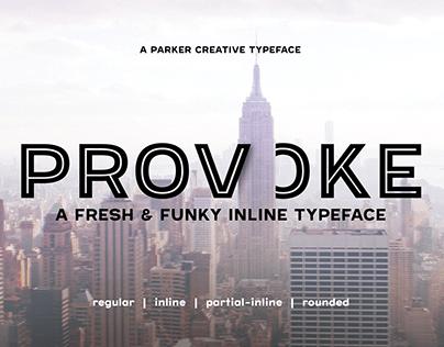 Provoke - Fresh & Funky Inline Font