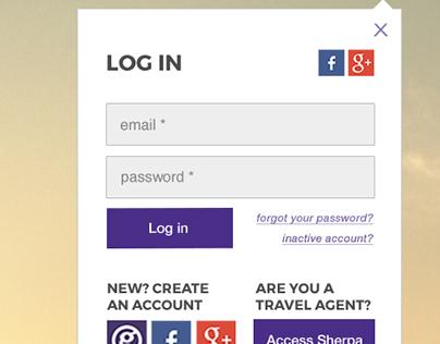 User Login/Registration