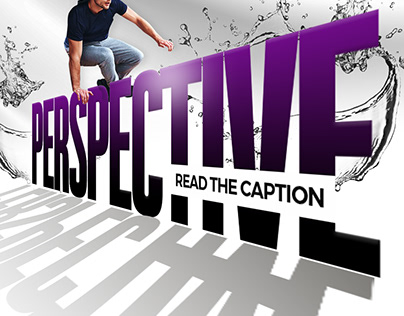 Perspective text done in photoshop