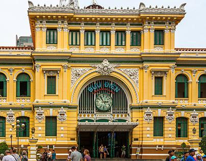 Bưu điện Trung tâm Sài Gòn-Saigon Central Post Office