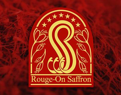 Innovative Design of Rouge-On Saffron Co. Logo
