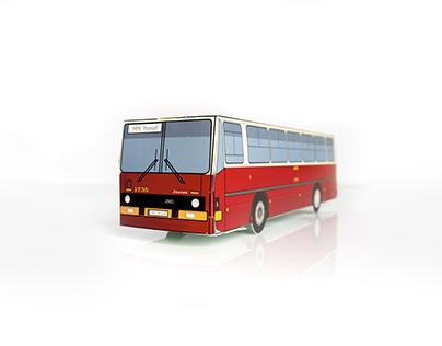 MPK Poznań - model autobusu IKARUS Z60
