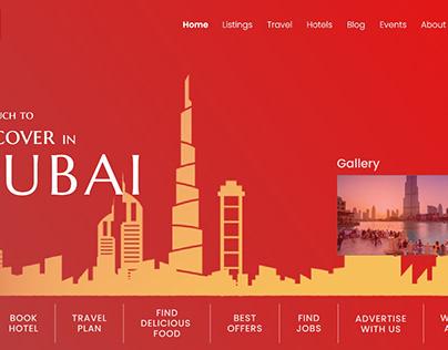 Web design UI for Dubiz