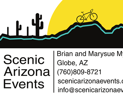 Scenic Arizona Events business card