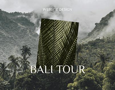 BALI TOUR - Travel Agency website design