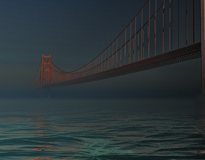 Golden gate bridge _ 3d