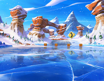 CTR NITRO-FUELED: Environment concepts
