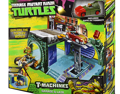 TMNT T-Machines Logo and Packaging