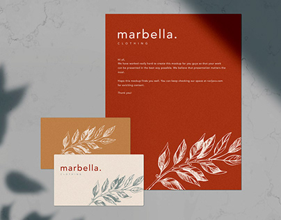 Free Marbella Stationery Mockup Template