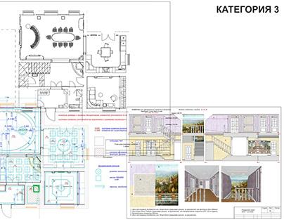 Проект дизайна интерьера. Дом жилой с мансардой.