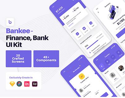 Bankee - Finance App Design