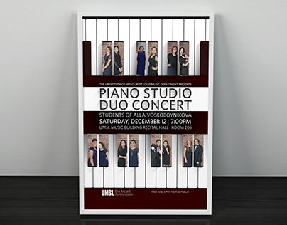 UMSL Piano Studio Duo Concert Poster