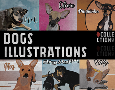 Dogs Illustrations Collection - 2021